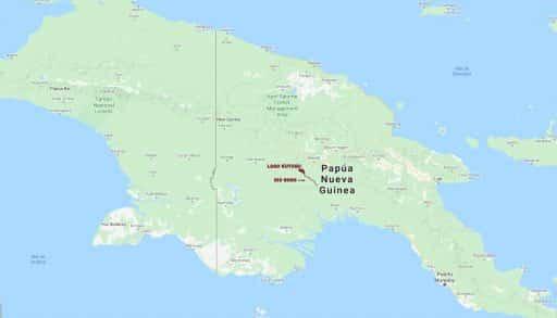 DISTRIBUCION DE MELANOTAENIA LACUSTRIS EN PAPUA NUEVA GUINEA